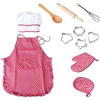 NIWWIN Chef Set Delantales para niños, 11 Piezas