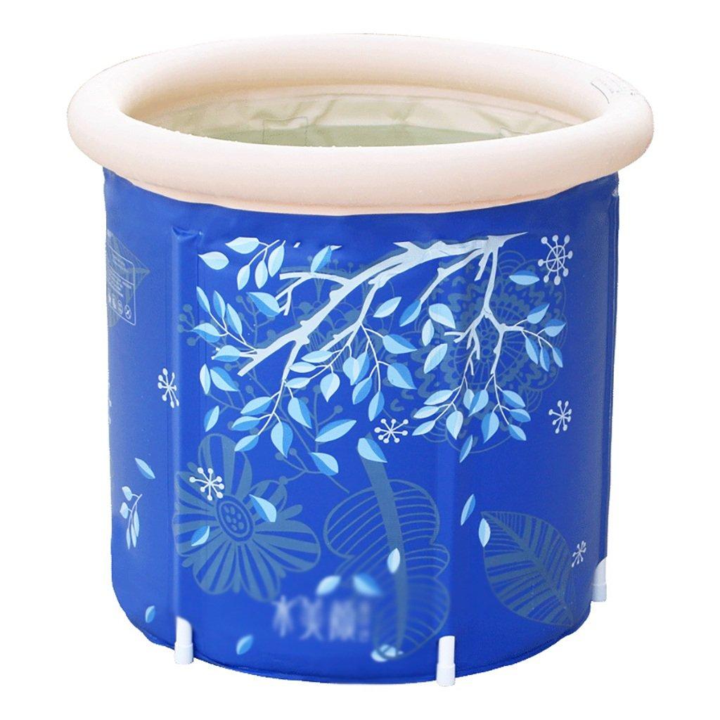 WYP Folding Bathtub Bath Barrel Adult Tub Inflatable Bathtub Thick Plastic Tub Bathtub (Size : 6570cm)