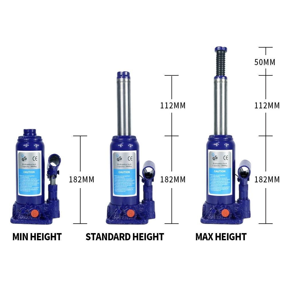 3 Ton Hydraulic Bottle Jack With Safety Valve Blue Car Jack 3 Ton Capacity//ZBN
