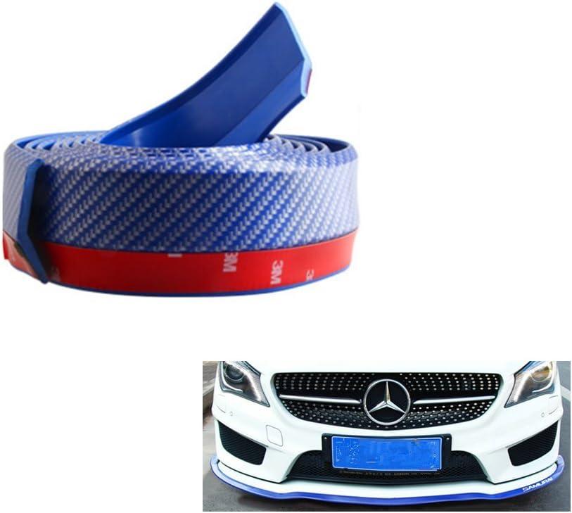 red 5.5cmx250cm Blueccl Universal Carbon Fiber Trim Edge Strip for Auto Front Bumper Lip Strip Splitter Spoiler Side Skirt