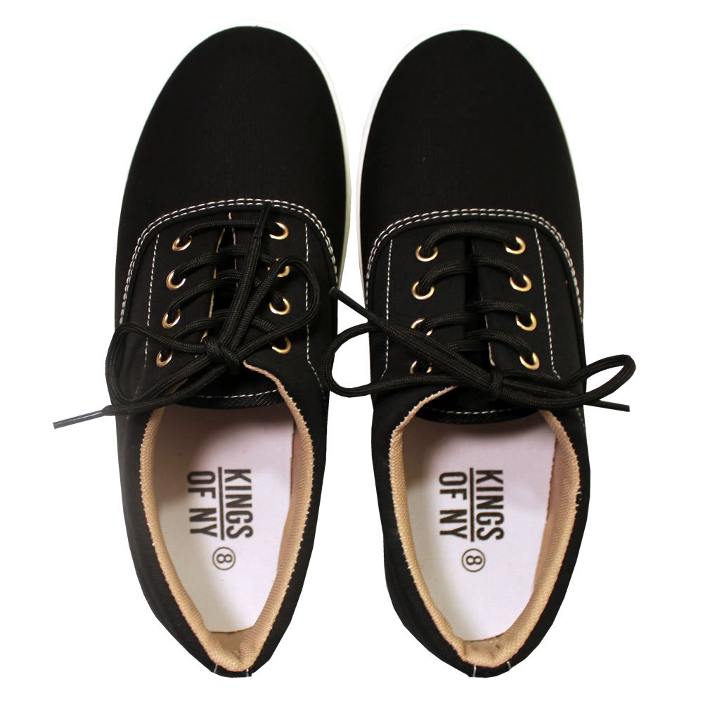 Kings Of NY The Classic Solid Canvas Sneakers Black