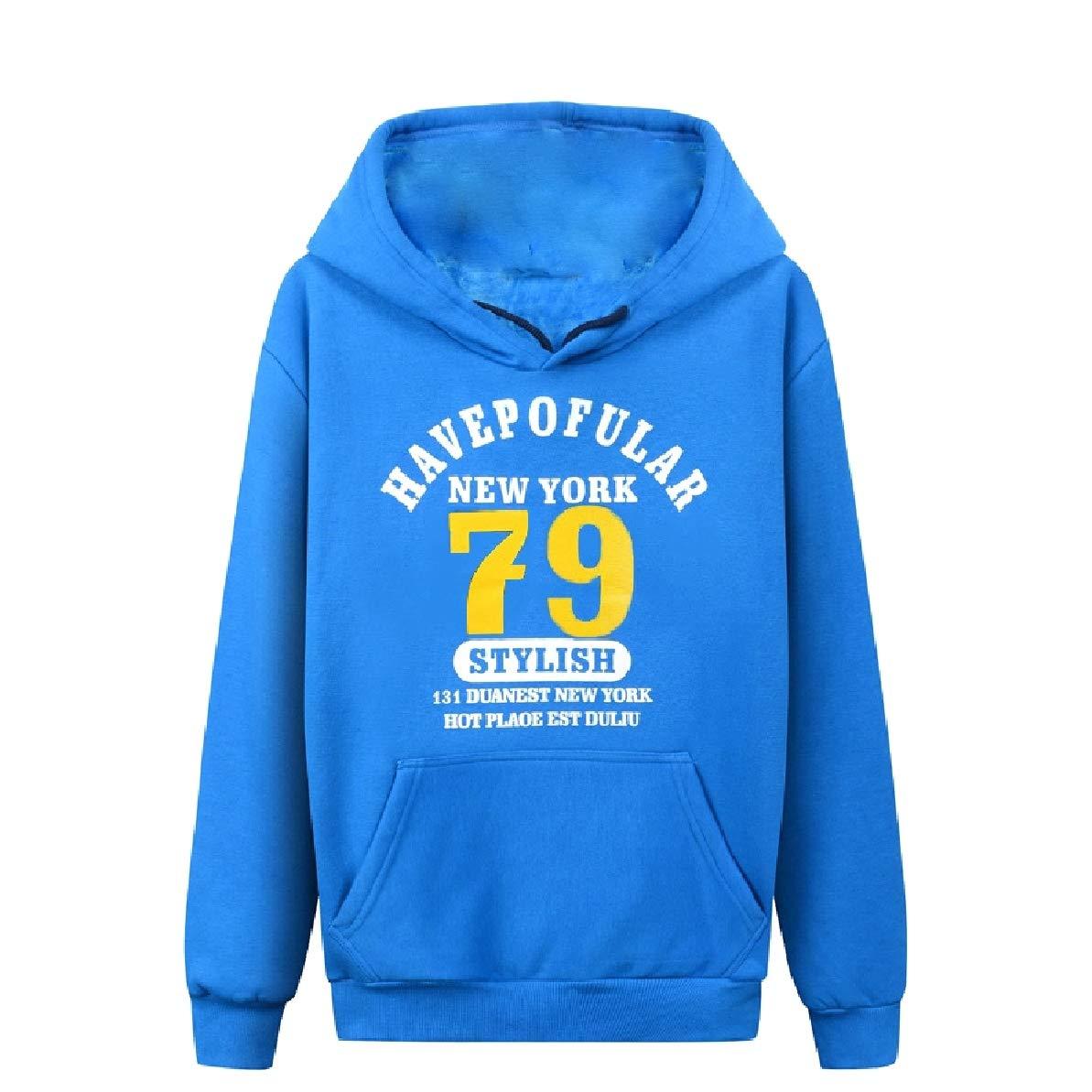 Zimaes-Men Classic Solid-Colored Oversize Hood Tshirt Sweatshirt
