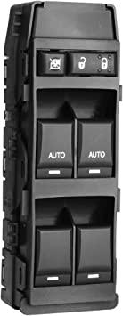 CCIYU Master Control Switch Power Window Switch Front Left Replacement fit for 2011-2014 Chrysler 200 2006-2010 Chrysler 300,Jeep Grand Cherokee,2007-2009 Chrysler Aspen,Dodge Durango 4602781AA