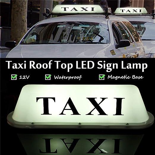 Amazon.com: Taxi Roof parte superior illuminated sign Topper ...
