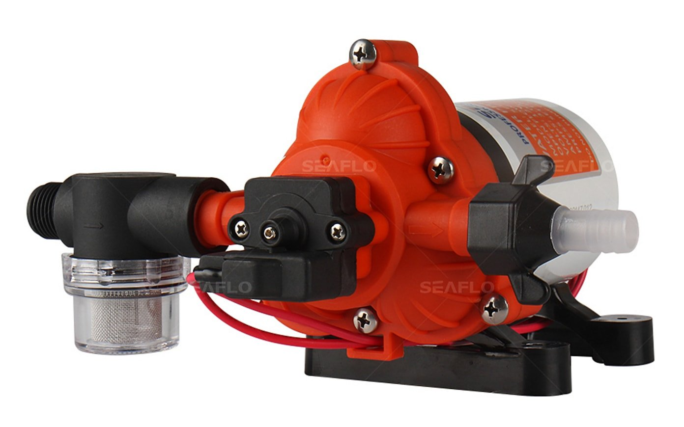 SEAFLO 33-Series Industrial Water Pressure Pump w/Power Plug for Wall Outlet - 115VAC, 3.3 GPM, 45 PSI by Seaflo (Image #3)