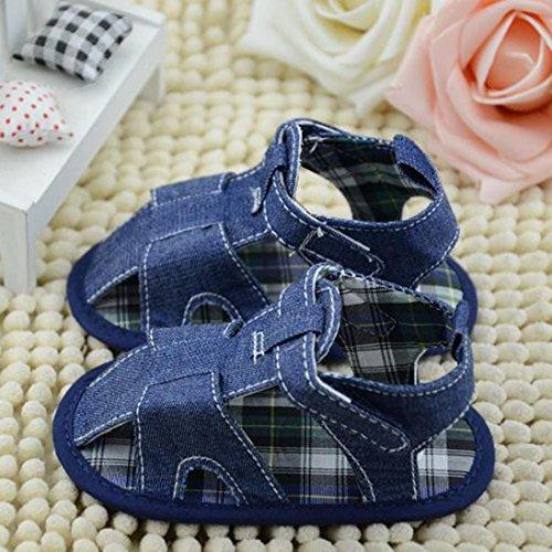 Zapatos de Bebé,Xinantime Niños del Bebé Sandalias Vaquero Sólido Recién Nacido (13)