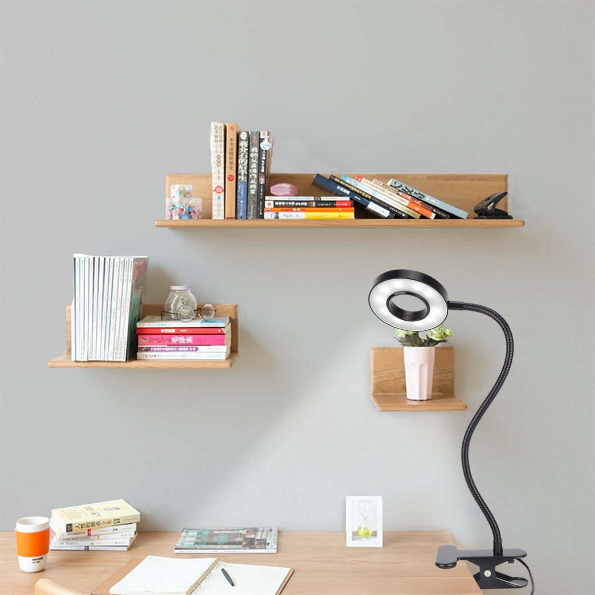 Kernorv Clip on Light/Reading Lights, 5W LED USB Dimmable 5 Color Modes Clip on Light Adjustable Brightness Portable Bed Reading Light Clip Lights for Bed Desk Headboard by Kernorv (Image #6)