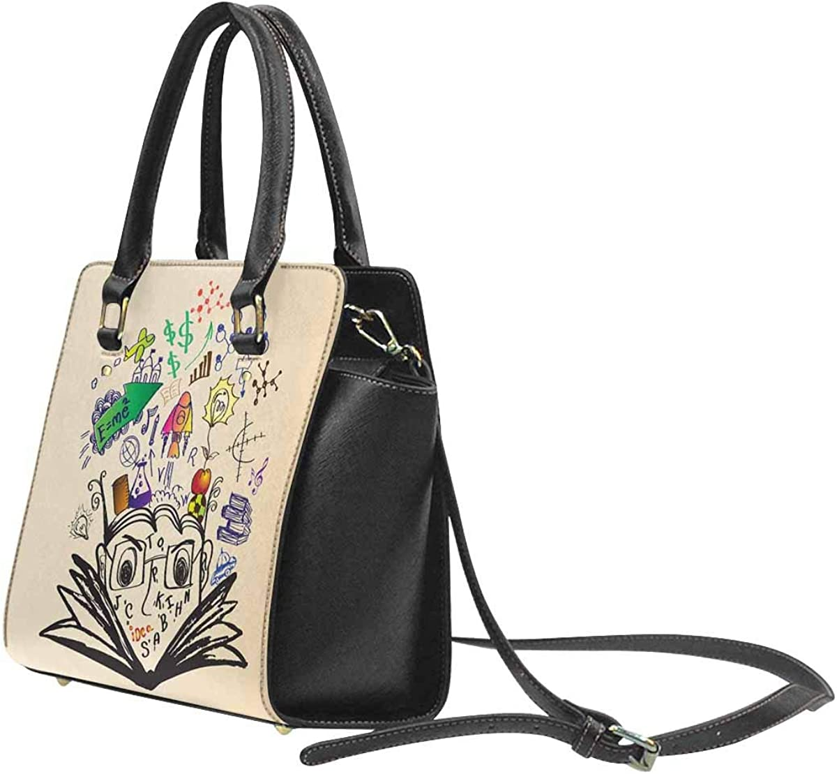 INTERESTPRINT Graphic Education Designs Handbags Tote Bag Shoulder Bag Top Handle Satchel Purse