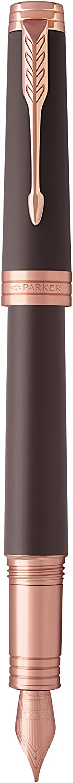 Parker Premier 1931410 Stylo-plume Laqu/é Noir Intense avec Attributs Dor/és//Plume Moyenne//Recharge dencre Noir
