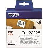 Brother DK22225 Rouleau d'étiquettes en papier continu 38 mm x 30,48 m pour QL-550/500/500A/560VP/560/570/580N/650TD/1050/1050N/1060N