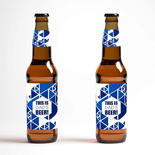 photograph regarding Printable Beer Bottle Labels referred to as : Dads Beer Bottle Labels - established of 12 labels