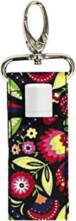 product image for Lip Balm Keeper by Stephanie Dawn, Made in USA, Lip Product USB Holder, Cotton Fabric, Metal Swivel Clasp, Keychain, Small Accessory, Washable (Jovie)