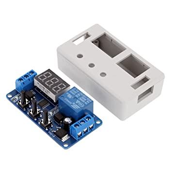 12V LED Automation Delay Timer Switch Relay Modul PCB Tafel With Case AHS