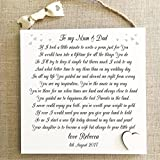 Thank You Mum Dad Wedding Gift PersonalisedParents Plaque Bride Groom W236 by MissyJulia Ltd.