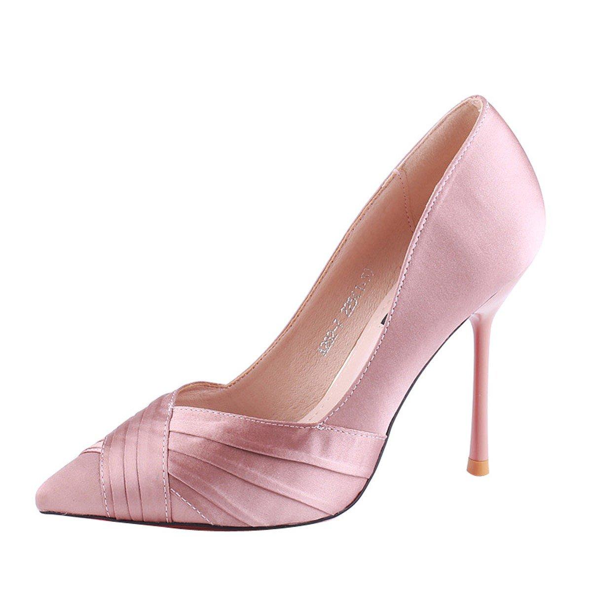 KPHY Zapatos de Mujer/Señaló El Pelo 10 Cm Zapatos De Tacon Alto Delgado Y Superficial De Boca De Moda De Sexy Otoño Solo Los Zapatos.Treinta Y Cuatro Color Champagne Thirty-four|Champagne color