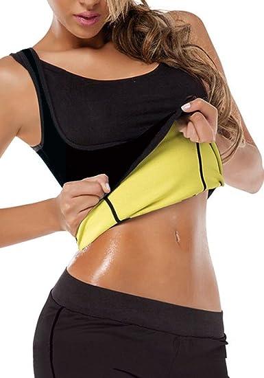 b339508691504 Amazon.com  DODOING Womens Hot Sweat Body Shaper Tank Top Tummy Fat Burner  Slimming Sauna Vest No Zip  Clothing