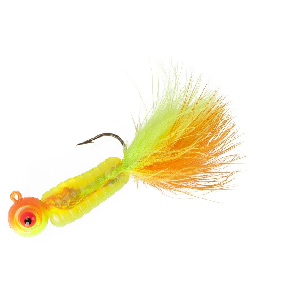 Lindy Fuzz-E Grub Jigs - Citrus Chub - 2 in - 1/4 oz