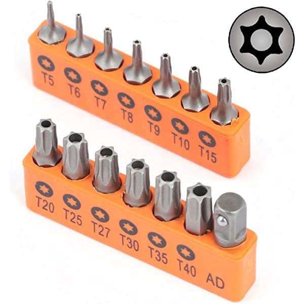 Amazon.com: 10PCS Torx Head Screwdriver Bit Set, VAKOGAL S2 ...