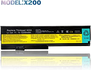 11.1V 5200mAh New Laptop Battery for Lenovo IBM Thinkpad X200 X200s X201 X201i,42T4534 42T4535 42T4543 42T4650 42T4834 42T4835