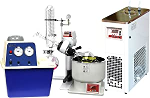 Across International SE05-S1.110 Ai SolventVap 0.5 gal/2 L Rotary Evaporator with Chiller and Vacuum Pump, 110V