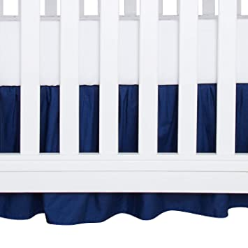 Machine Washable Navy Blue Color Fits Mini Playard and Portable Crib Beds 24in x 38in Soft and Breathable for Baby Boys and Girls CaSaJa Napping Microfiber Mini//Portable Crib Bumper