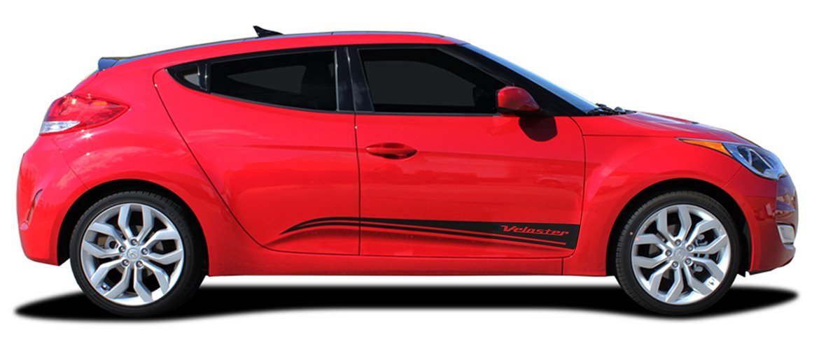 Amazon.com: STRIKE : Fits 2011-2017 Hyundai Veloster Side Door Body Accent Rocker Panel Vinyl Graphic Decal Stripes (Fits ALL MODELS) (Color-3M 5095 Matte ...