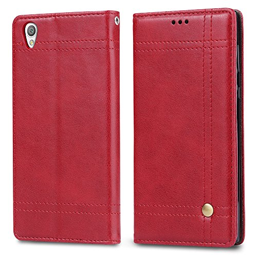 Sony Xperia L1 High quality Funda Caso,OFU® [Anti-Slip][Slim Fit] Frosted Ultra Thin Matte Hard Back Cover Case [Screen Protector Film for Gift],case cover Para Sony Xperia L1 Smartphone rojo