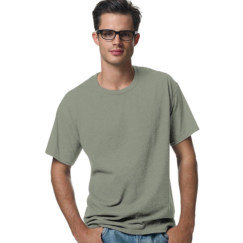 Hanes Men's ComfortBlend@ EcoSmart@ Crewneck T-Shirt, Stonewashed Green