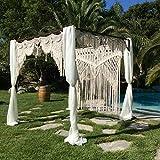 American Knit Bohemian Macrame Wedding Backdrop Decor Boho Chic Macrame Wall Hanging Style Macrame Tapestry Macrame Curtain & Macrame Arch 75'' W x 85'' L