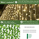 KASZOO 12 Pack Artificial Ivy Leaf Plants with 240