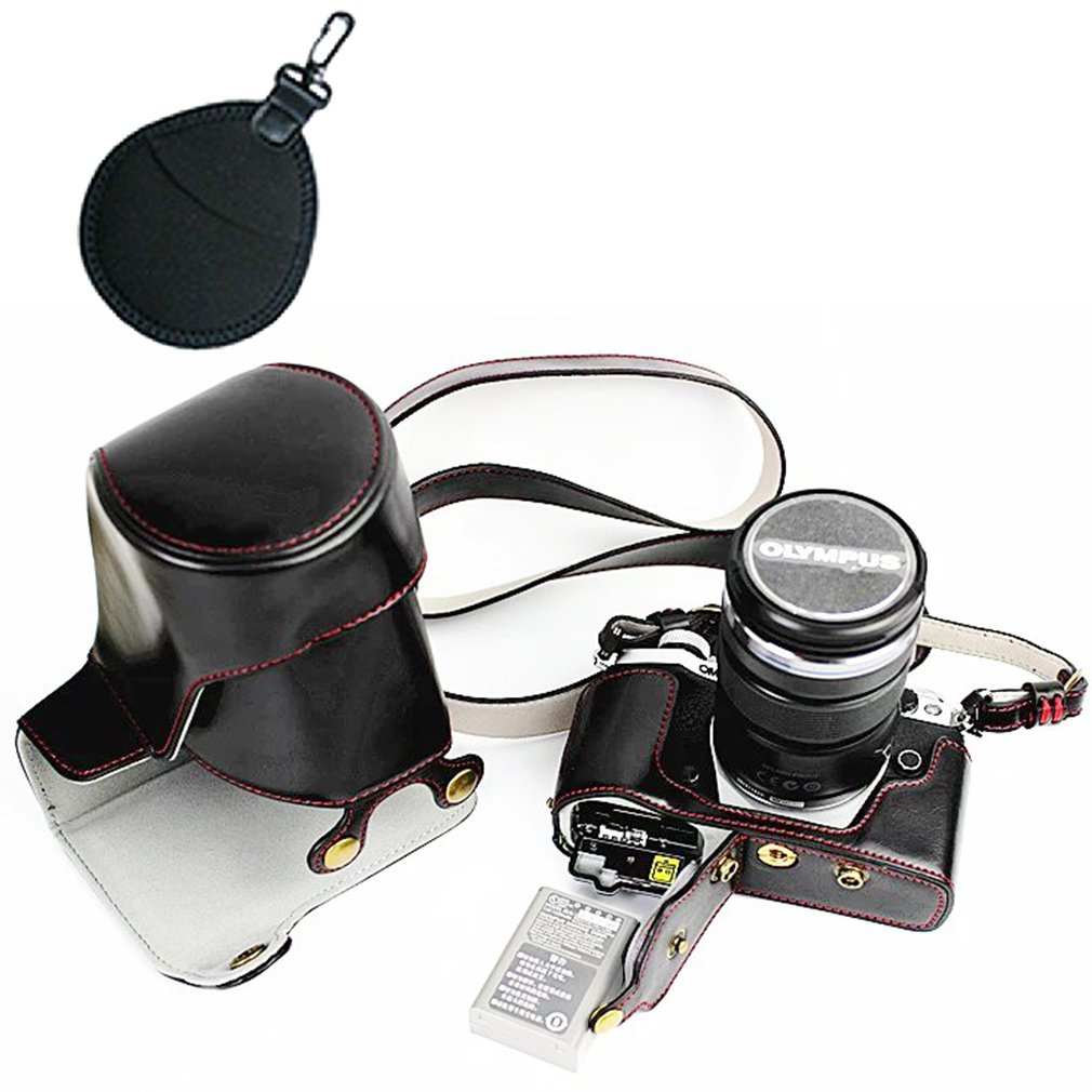 12-40mm and 40-150mm Lenses marrone scuro Borsa UV Lens EM5 Mark 2. First2savvv XJD-EM5II-HH10UV Qualit/à premium Custodia Fondina in pelle sintetica per macchine fotografiche reflex compatibile con Olympus OM-D E-M5 Mark II