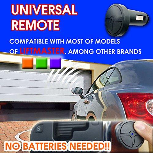 Mhz Compatible Garage Door Opener - Universal Garage Door Opener Remote Compatible Liftmaster Genie No Battery Needed