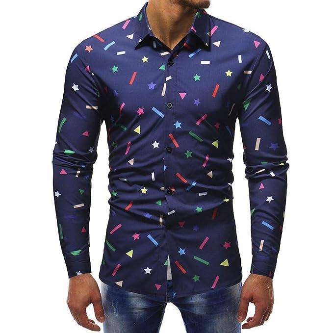 Polo, Camisetas, Blusa,BaZhaHei, Camisa de Manga Larga Delgada Casual con Estampado