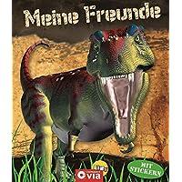 Meine Freunde: Dinosaurier: Freundebuch mit Stickern für Dino-Fans