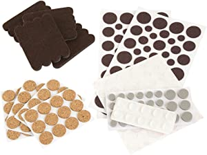 SoftTouch 4924995N Craft Value Pack-236 PCs, Dots-Cork Pads-Felt Strips-Bumpers, Brown