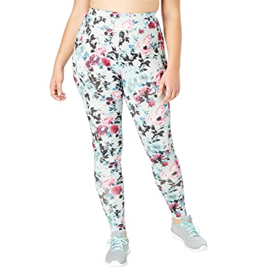 bfc115beddd Image Unavailable. Image not available for. Color  fullbeauty SPORT Women s  Plus Size Leggings - Blooming Rose ...