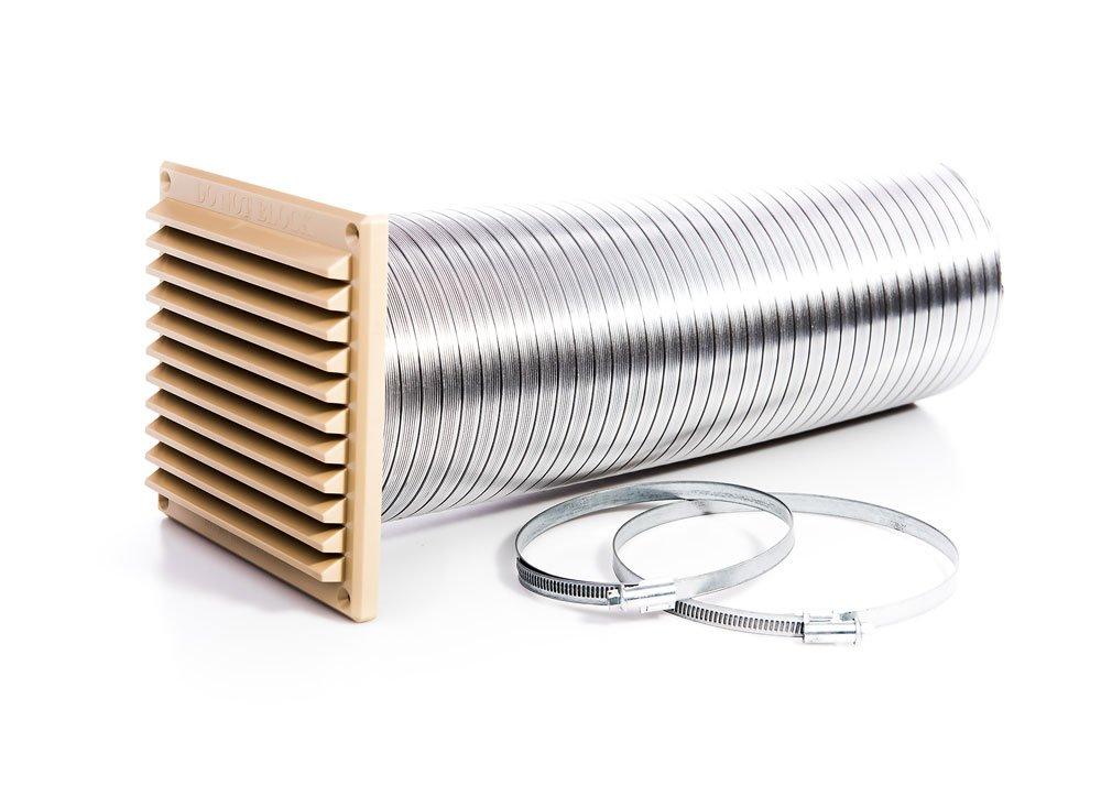 Rytons construcción productos dvkit125bs directa Kit de ventilación para estufas con externo rejilla de rejilla, Buff/arena: Amazon.es: Bricolaje y ...