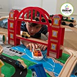 Kidkraft Metropolis Train Set with Roll-Up Felt Play Mat