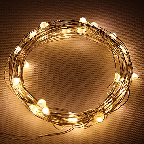 Starlight 25ft LED String Lights - Silver Flexible Wire