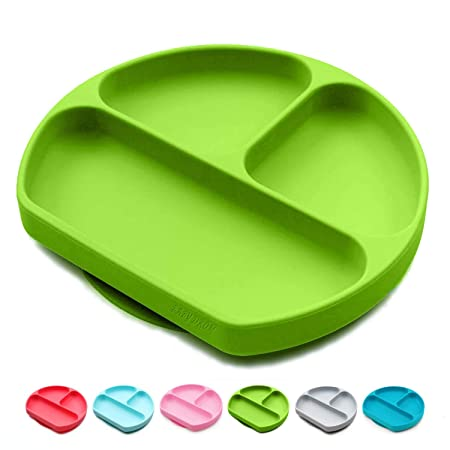 4Colors One-piece Happy Silicone Baby Kid Suction Table Food Tray Placemat plate