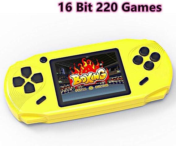 Amazon.es: Bornkid Consola de Juegos de Mano de 16 bits para Niños y Adultos con 100 Juegos de Video Rompecabezas de Alta Definición Incorporados 3.0 Seniors de Pantalla Grandes Juegos de Mano Niños