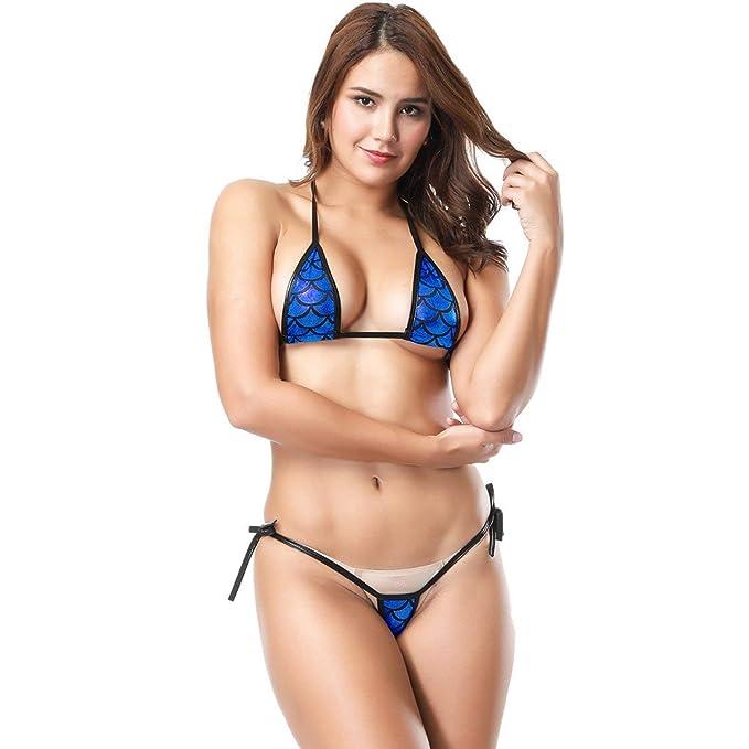 Mermaid Metallic Mini Brasil Hot Triangle Bikini Ladies Mode cKJlF1uT3