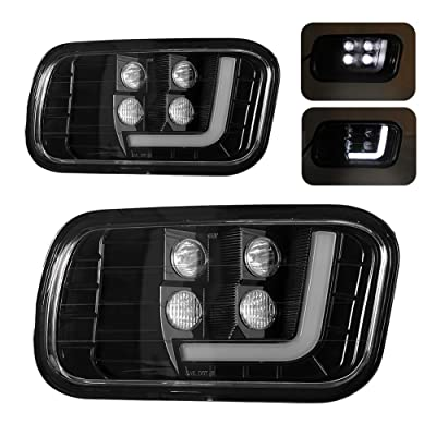 Dodge Ram Truck LED Fog Light Assembly with Daytime Running Lights 2pcs for 09-12 Dodge Ram 1500/10-14 Dodge Ram 2500/10-12 Dodge Ram 3500 Driving Fog lamps: Automotive