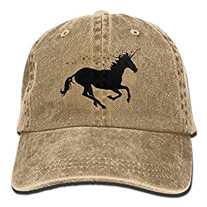 Gorgeously Unicorn Horse Denim Baseball Caps Hat Adjustable Cotton Sport Strap Cap For Men Women