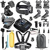SmilePowo 18-in-1 Accessory Kit for GoPro Hero5 Black, Hero5 Session, Hero 4 Silver Black, Hero Session, Hero3+,3,2,1 SJ4000,5000,6000,XIAOMIYI,2,Sports Camera Accessories