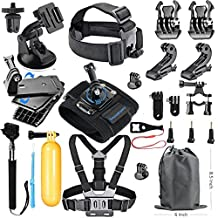 SmilePowo 18-in-1 Accessory Kit for GoPro Hero5 Black, Hero5 Session, Hero 4 Silver Black, Hero Session, Hero3+,3,2,1 SJ4000,5000,6000,XIAOMIYI,2,Sports Camera Accessories
