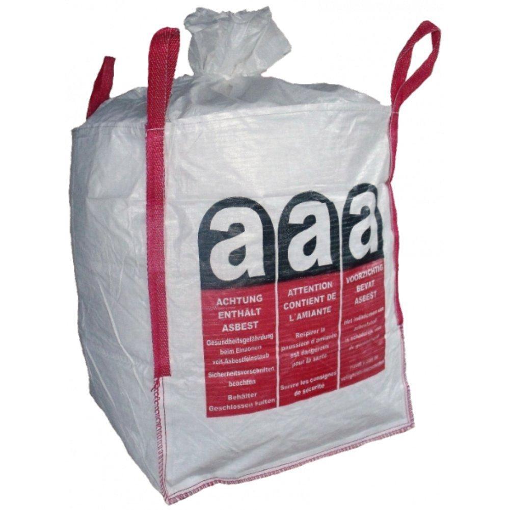 5 Big Bag, FIBC, Asbestentsorgung, Asbest, Entsorgungssack, 90x90x110cm SWL 1000Kg (8,03€ /Stü ck) Lacers GmbH