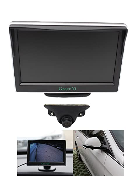 semis monitor three with backup spot in triple blinds systems inch blind cameras camera blindspot truck for system