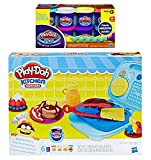 Play Doh Kitchen Creation Breakfast Bakery + Play-Doh Plus Compound Bundle