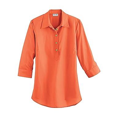 bbd2be6d65d3d Blair Women s Plus Size Silky Tunic - XL Emberglow at Amazon Women s ...